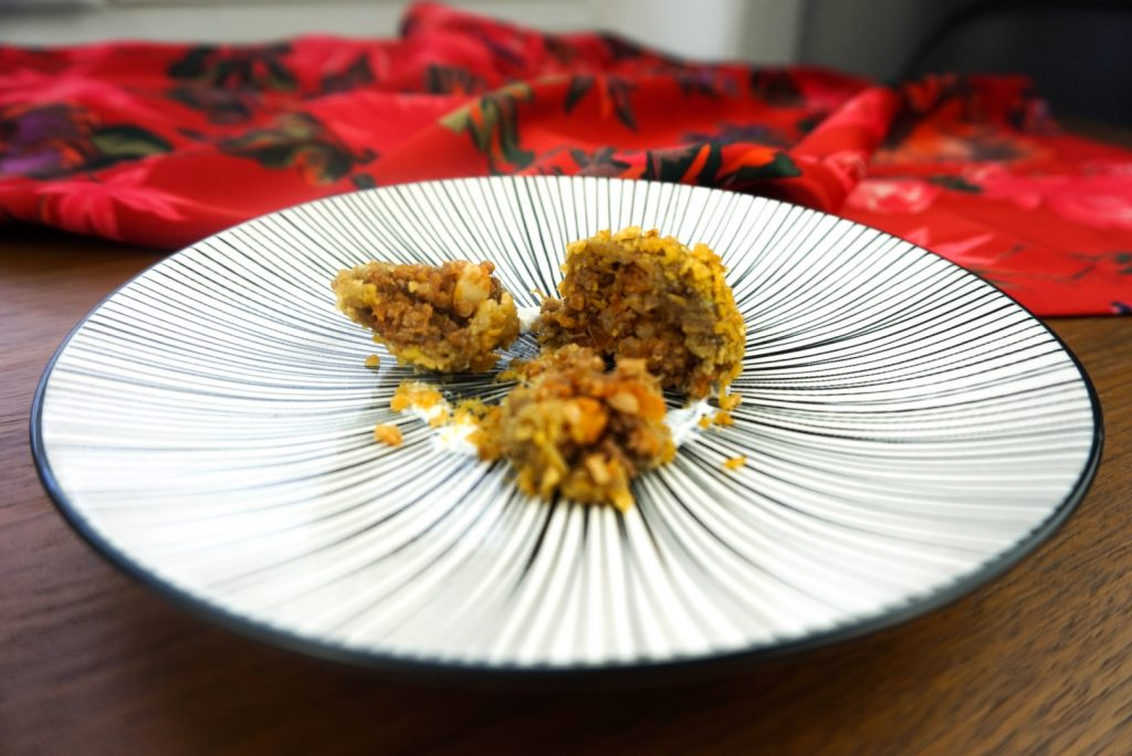 Tortitas de Plátano y Carne