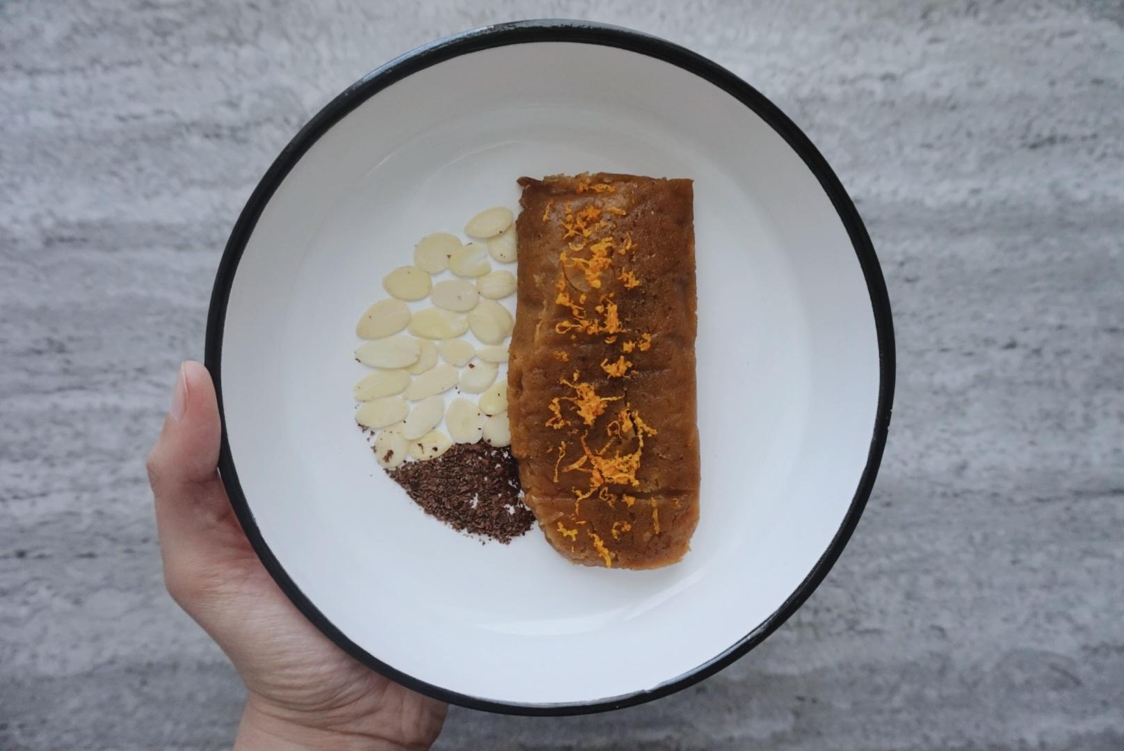 Tamales de naranja y chocolate