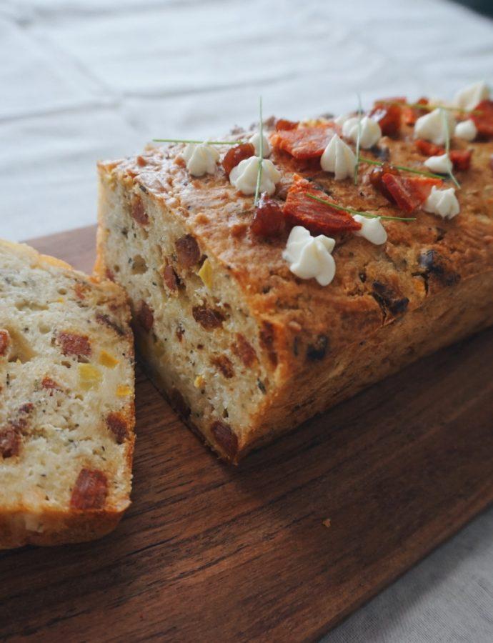Pan salado de chorizo (panqué)